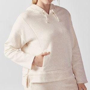 Fabletics Rayna Hoodie Sweater Sz 3X Beige Nude